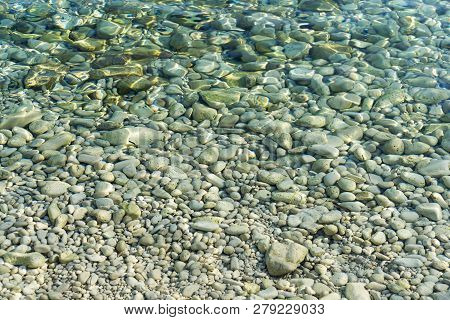 Pebbles In The Water For Backgrounds And Overlays