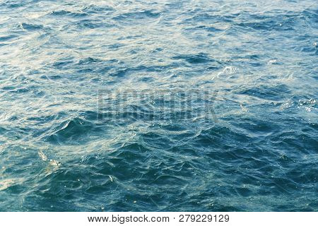 Double Exposure Of The Ocean Surface For Backgrounds