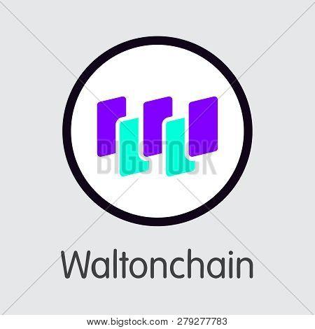 Wtc - Waltonchain. The Logo Of Coin Or Market Emblem.