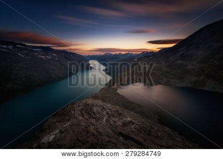 Besseggen Mountain Ridge Between Gjende Lake And Bessvatnet, Jotunheimen