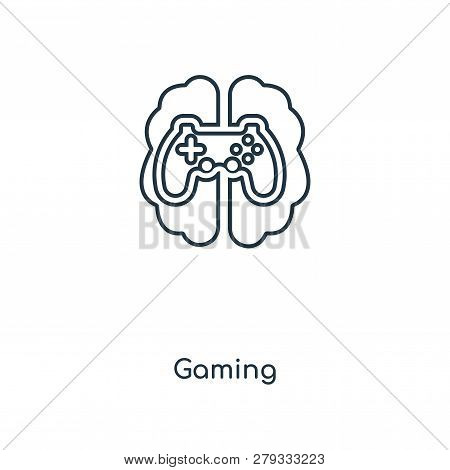 Gaming Icon In Trendy Design Style. Gaming Icon Isolated On White Background. Gaming Vector Icon Sim