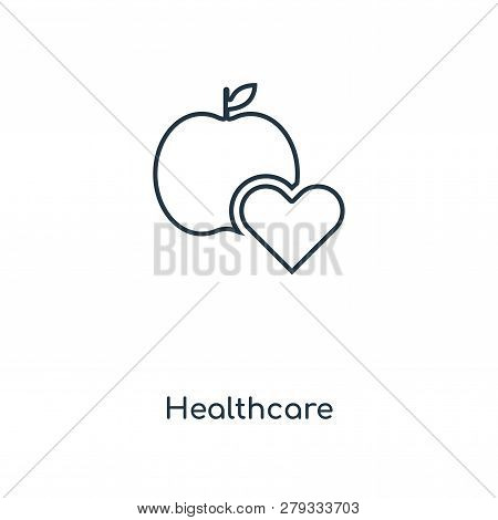 Healthcare Icon In Trendy Design Style. Healthcare Icon Isolated On White Background. Healthcare Vec
