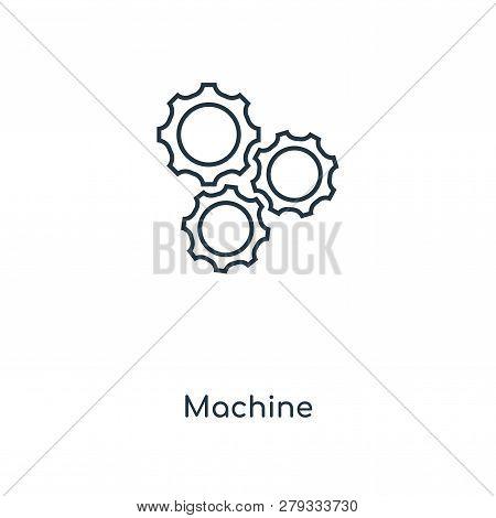 Machine Icon In Trendy Design Style. Machine Icon Isolated On White Background. Machine Vector Icon