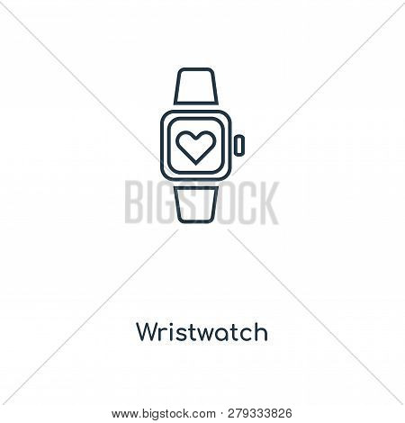 Wristwatch Icon In Trendy Design Style. Wristwatch Icon Isolated On White Background. Wristwatch Vec