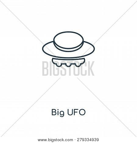 Big Ufo Icon In Trendy Design Style. Big Ufo Icon Isolated On White Background. Big Ufo Vector Icon