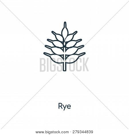 Rye Icon In Trendy Design Style. Rye Icon Isolated On White Background. Rye Vector Icon Simple And M