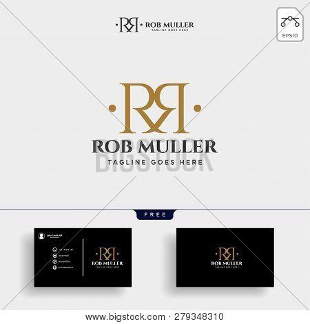 Letter Rm, R, M Gold Creative Logo Template Vector Illustration