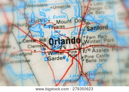 Orlando, A City In The The United States Of America, Usa (selective Focus)