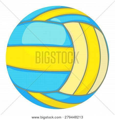 Ball For Volleyball Icon. Cartoon Illustration Of Ball For Volleyball Icon For Web