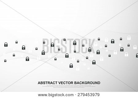 Global Network Connection Background. Cyber Security Concept Global Business. Internet Communication