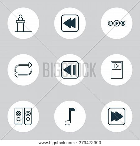 Music Icons Set Vector & Photo (Free Trial) | Bigstock