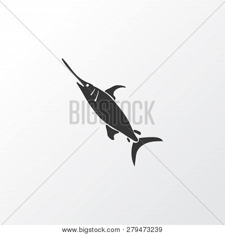 Swordfish Icon Symbol. Premium Quality Isolated Marlin Element In Trendy Style.