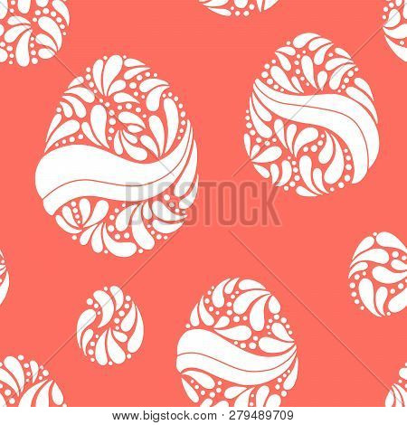 Easter Egg Graphic Color Doodle Seamless Pattern Background Illustration Vector