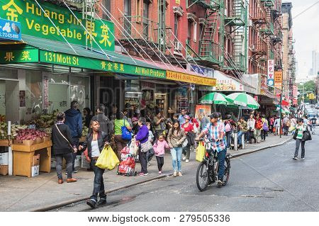 Food Markets At Chinatown In New York City