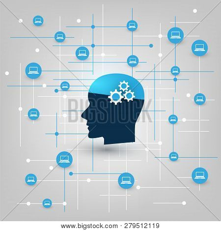 Global Ai, Virtual Assistance, Automated Support, Digital Aid, Deep Learning And Future Smart Techno