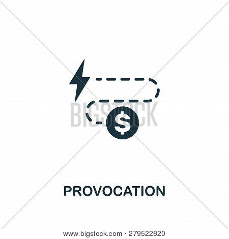 Provocation Icon. Premium Style Design From Corruption Icon Collection. Pixel Perfect Provocation Ic