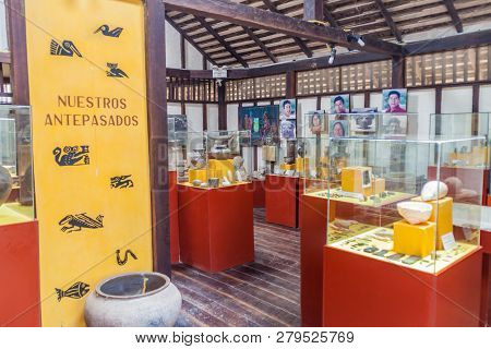 Agua Blanca, July 3, 2015: Archaeological Museum In Agua Blanca Village In Machalilla National Park,