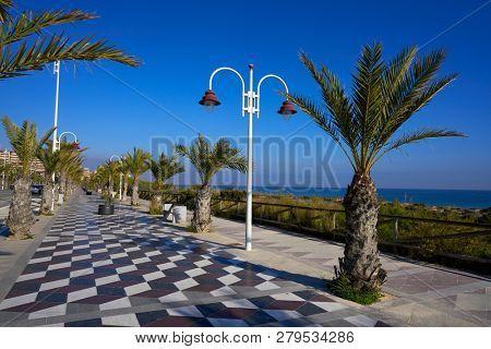 Arenals del Sol Beach in Elche Elx of Alicante Spain promenade Bartolome Tirajana