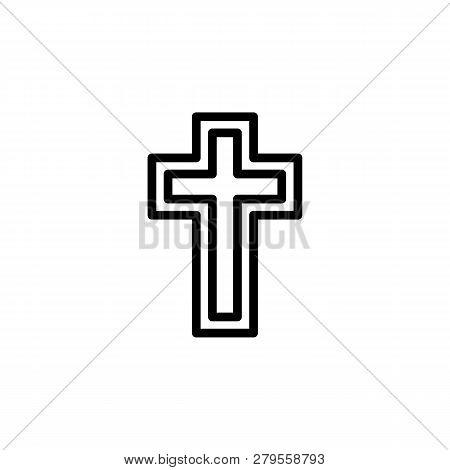 Religion Symbol, Catholicism Icon. Element Of Religion Symbol Illustration. Signs And Symbols Icon C
