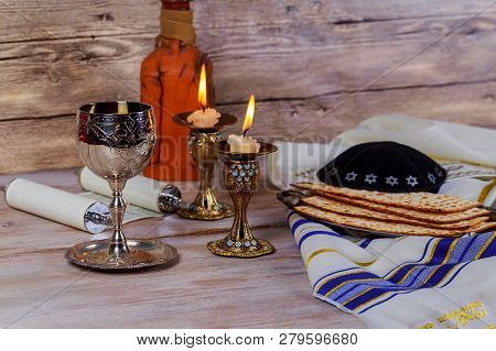 Saturday Sabbath Havdala Ceremony At The End Of Jewish Saturday