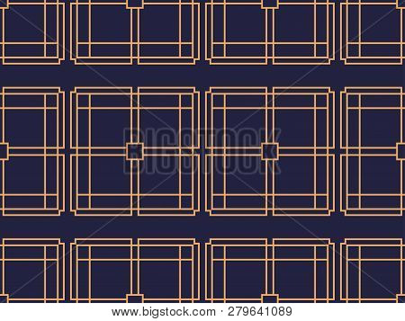 Art deco seamless pattern. Background with a pattern of lines, style 1920s, 1930s. Vector illustration poster