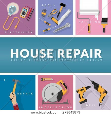 Set Home Repair Vector Photo Free Trial Bigstock