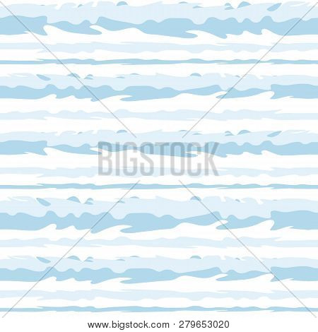 Striped Marine Seamless Pattern. Vector Image. Eps 10