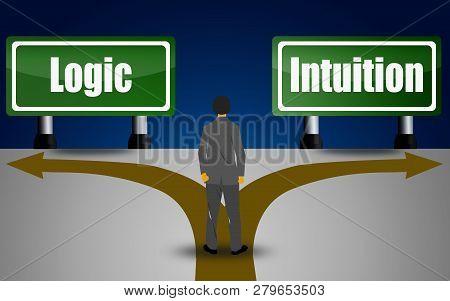Choosing Between Logic Or Intuition, 3d Rendering