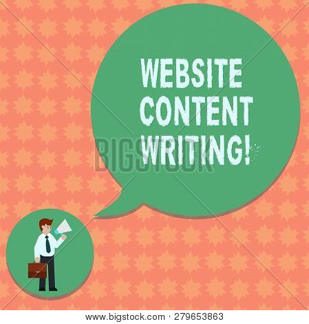 Writing Note Showing Website Content Writing. Business Photo Showcasing Writing An Informative Conte