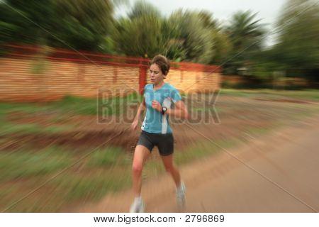 Female Athete Running.
