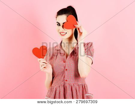 Emotions, Feeling, Flirtation, Valentines Day Adorable Concept.