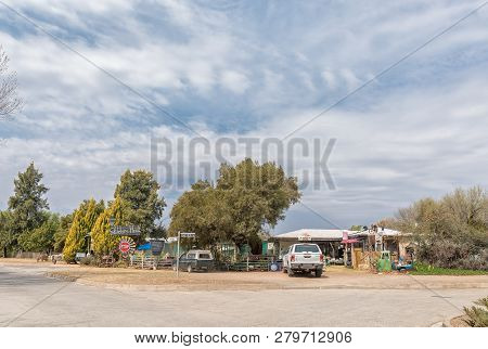 Orania, South Africa, September 1, 2018:  A Road Stall In Orania In The Northern Cape Province. A Ve