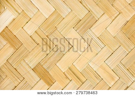 Rattan Texture, Detail Handmade Bamboo Quality Texture Background. Wood Texture. Netting.