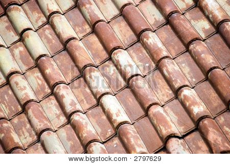 Background Of  Diagonal Roof Tiles