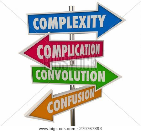 Complexity Complications Arrow Signs 3d Illustration