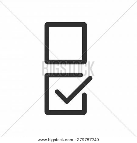 Checkbox Set With Blank And Checked Checkbox Line Art Vector Icon For Apps And Websites. Editable St