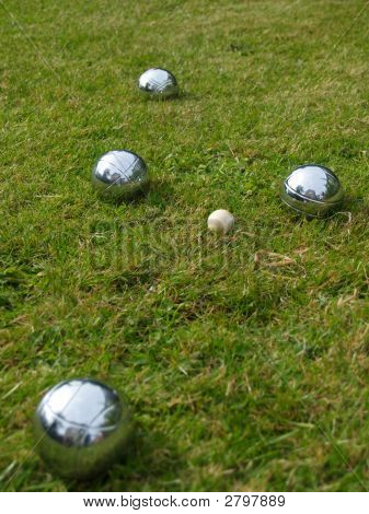 Boules On The Lawn