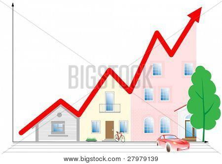 Vector illustration. Concept diagram. Success development.