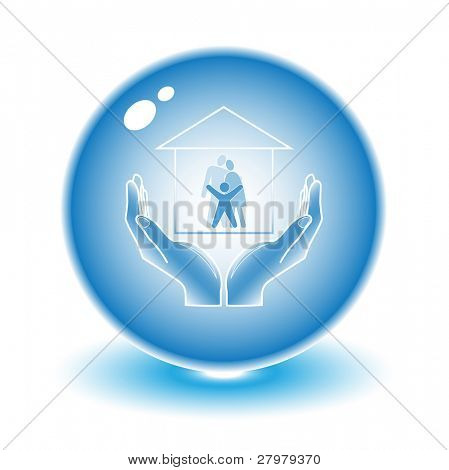 Vector abstract internet icon. Blue set. Simply change. Other abstract icons you can see in my portfolio.