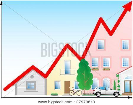 Vector illustration. Concept diagram. Success development. poster