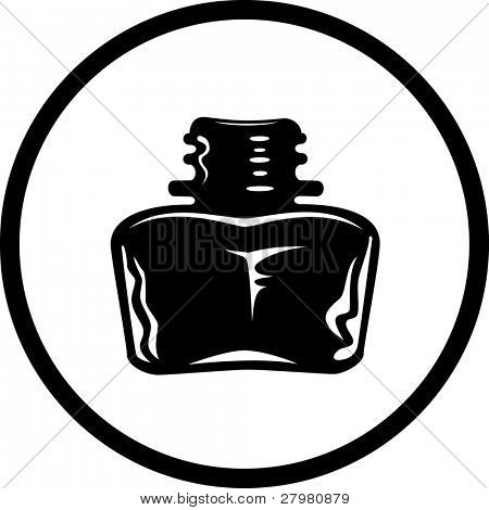 vector icon of inkstand