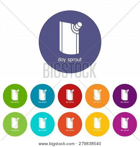 Doy Pack Icons Color Set Vector For Any Web Design On White Background