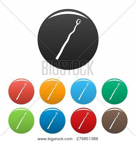 Burned Match Icons Set 9 Color Vector Isolated On White For Any Design