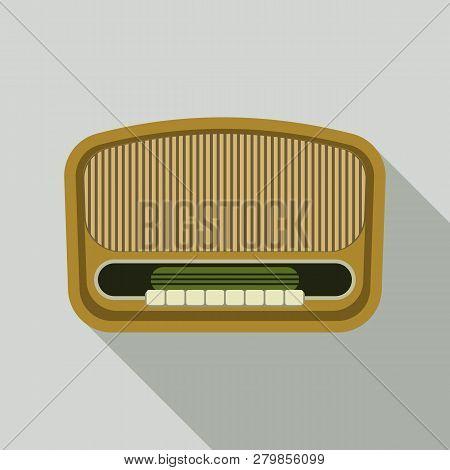 Vintage Am Radio Icon. Flat Illustration Of Vintage Am Radio Vector Icon For Web Design