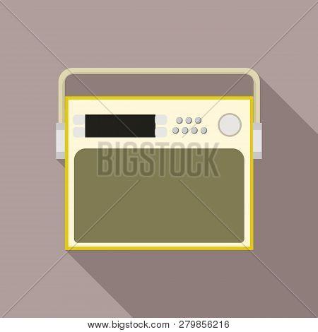 Portable Old Radio Icon. Flat Illustration Of Portable Old Radio Vector Icon For Web Design