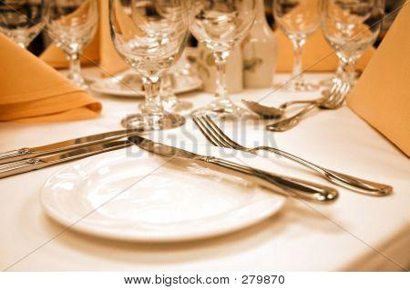 Bread Plate In Warm Lighting