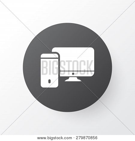 Computer icon symbol. Premium quality isolated workstation element in trendy style. poster