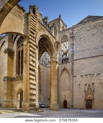 Narbonne Cathedral Is A Roman Catholic Church Located In The Town Of Narbonne, France. The Cathedral