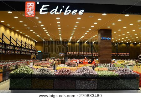 Genting Highlands, Malaysia- Dec 03, 2018 : Edibee Outlet At Genting Highland, Malaysia. Edibee Spec