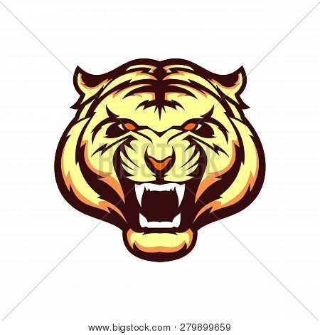 Vector Illustration Of A Tiger. International Tiger Day. July 29. Striped Predator. Bengalese Tiger.